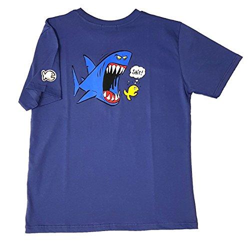 IQ Shark 1 T-Shirt édition limitée Medium Bleu Marine