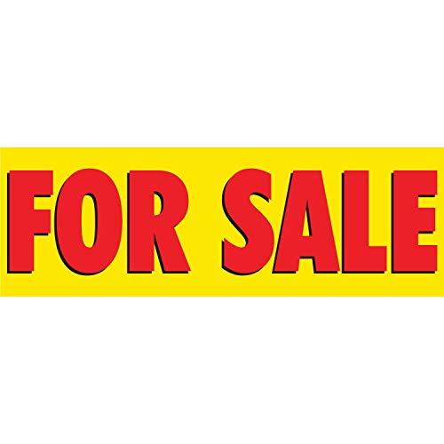 HALF PRICE BANNERS | Vinyl Banner -Indoor/Outdoor 2X6 Foot -Yellow | Includes Zip Ties | Easy Hang Sign-Made in USA