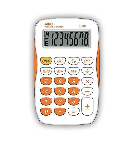 Calcolatrice AVC 8 Cifre Big Display Arancio