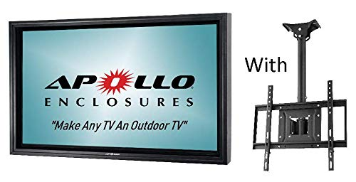 Review Apollo Outdoor TV Enclosure for 60-65 LED/LCD Televisions - Includes Weatherproof Adjustable...