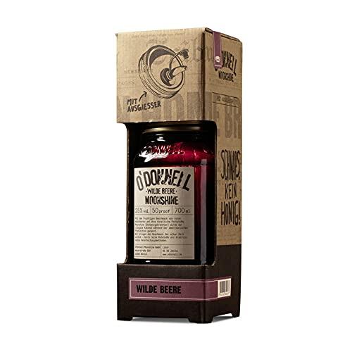 "O'Donnell Moonshine Kombiset ""Wilde Beere"" Likör (700 ml) I Vegan I Natürliche Zutaten I 25% Vol. Alkohol"