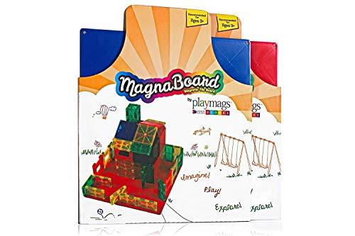 Playmags Panel de construcción - magnética Partir Placa de construcción o con Placas magnéticas - Gran Añadir a Cualquier baldosa magnética Juguete - Los Colores Pueden Variar
