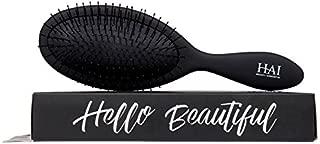 HAI DETANGLER - Premium Smoothing Paddle Brush for Wet or Dry Hair - Midnight Black