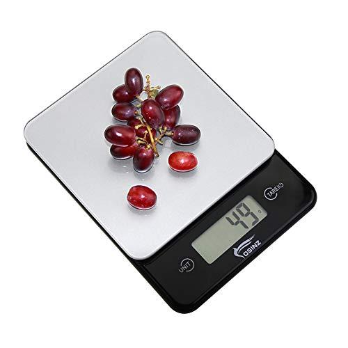 Bilancia da Cucina Digitale Precisione fino a 1g11 lb / 5 kg Bilancia per Alimenti con Funzione di tara LCD Retroilluminata per la Casa, 2 Batterie AAA Incluse