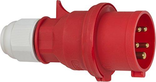 Brennenstuhl 1081030 Clavija, 400 V, Rojo y Negro