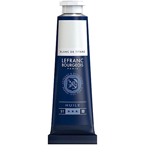 Lefranc & Bourgeois feine Ölfarbe, 40ml, geschmeidige & hoch pigmentierte Ölfarbe - Titanweiss