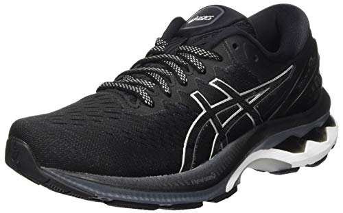 ASICS Damen Gel-Kayano 27 Road Running Shoe, Black/Pure Silver, 38 EU