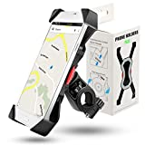 Grefay Support Téléphone Vélo Guidon de Vélo Moto Berceau Collier avec Rotation 360 pour 3,5 à 6,5 Pouces GPS pour Smartphones