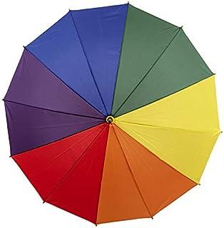 Clifton Umbrellas Rainbow cover on 12 Rib frame Umbrella, Rainbow
