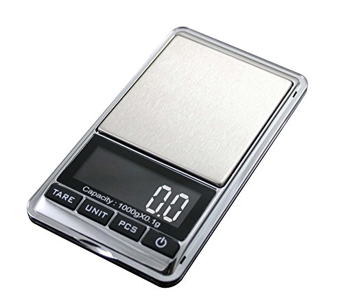 American Weigh Scales HP Series Precision Digital Pocket Weight Scale, Chrome 1000g x 0.1G (CHROME-1KG)