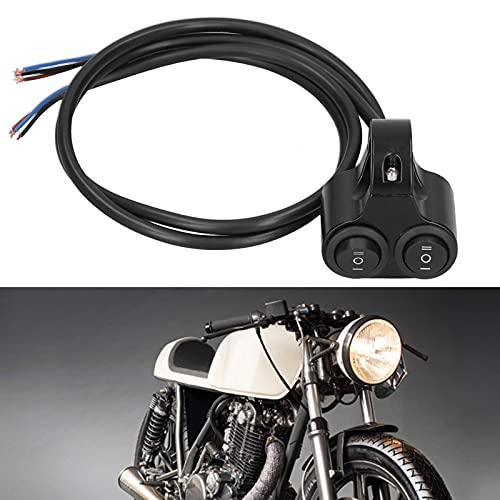 SALALIS Botón de Control del Manillar, Interruptor de Arranque, Llave de Encendido, Interruptor de Manillar Universal, Interruptor de Manillar de Motocicleta para Bicicleta eléctrica para vehículos