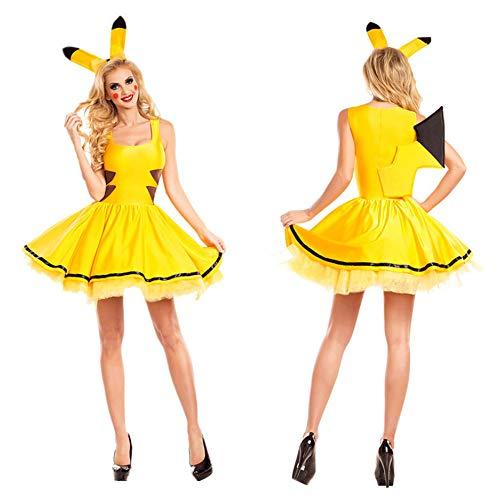 ZSTY Cosplay, Halloween Kostuum Film Cosplay Pikachu Cosplay Kostuum Pokemon Game Uniform