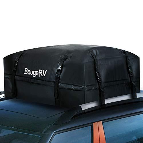 BougeRV Wasserdicht Dachbox 15 Cubic Feet Dachgepäckträger Auto Universal Dachtasche Dach Beutel Aufbewahrungsbox für Reisen, Feiertage und Gepäcktransport, Autos, Vans, SUVs