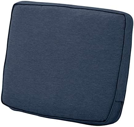 Best Classic Accessories Montlake Water-Resistant 25 x 22 x 4 Inch Patio Lounge Back Cushion, Heather Ind