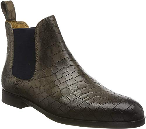 MELVIN & HAMILTON MH HAND MADE SHOES OF CLASS Damen Susan 10 Chelsea Boots, Grau Grey Crock Grigio Elastic Navy Lining Rich Tan Insole Leather Hrsrblackc, 36 EU