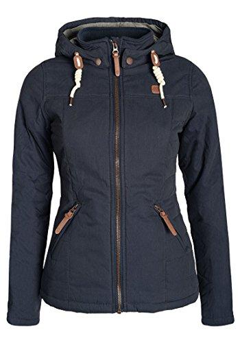 DESIRES Lewy Damen Übergangsjacke Steppjacke leichte Jacke gefüttert mit Kapuze und Stehkragen, Größe:M, Farbe:Insignia Blue (1991)
