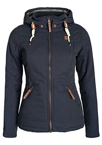 DESIRES Lewy Damen Übergangsjacke Steppjacke leichte Jacke gefüttert mit Kapuze und Stehkragen, Größe:XL, Farbe:Insignia Blue (1991)