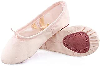 Koolen Ballet Shoes, Canvas Upper & Leather Sole Ballet Slippers, Ballet Dance Shoes for Girls (Toddler/Little Kid/Big Kid...