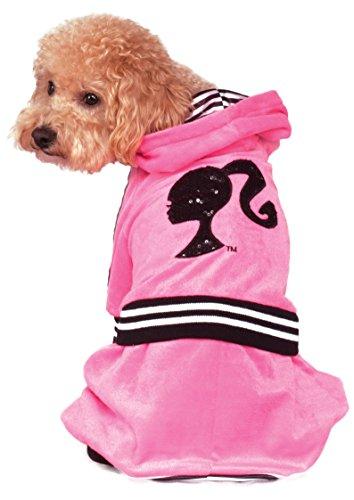 Rubie's Barbie Girl Velour Tracksuit Pet Costume, Medium