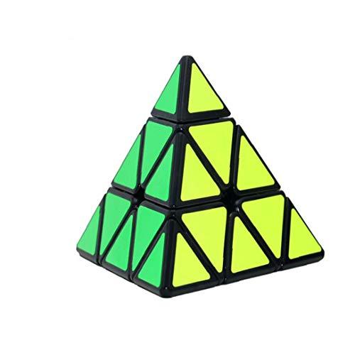 Pirámide Cubo De La Velocidad, Triángulo De Fibra De Carbono Pegatina Chueco Puzzle Para Niños Intelligence Development, Velocidad Cubing Principiantes O Entusiastas Puzzle (negro) Regalo Para Los
