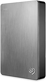 Seagate 希捷 Backup Plus 5TB 便携外置硬盘 – 银色 适用于PC笔记本电脑和Mac的USB 3.0,2个月Adobe CC摄影(STDR5000101)