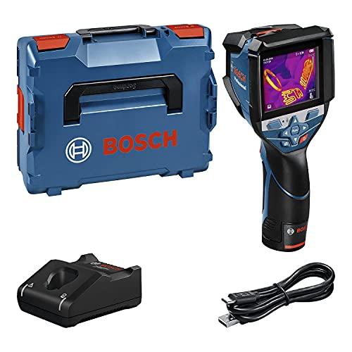 Bosch Professional Termocamera con sistema 12 V GTC 600 C (1 batteria da 12 V, con funzione app, intervallo di temperatura: da -20 °C a +600 °C, risoluzione: 256x192 px, in L-Boxx)