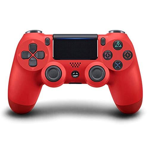 Controlador Bluetooth Inalámbrico para Playstation 4, Mango De PS4 De Doble Vibración De Seis Ejes con Pantalla Táctil,Lava Red