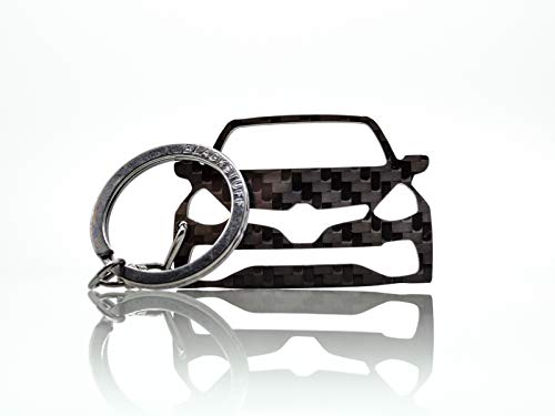 BlackStuff Portachiavi in Fibra di Carbonio Compatibile con Clio IV Sport RS 2012-2019 BS-664