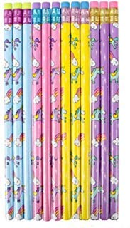Afterthoughtri 48 Unicorn Pencils- Great for Classrooms, School Supplies, and Party Favors