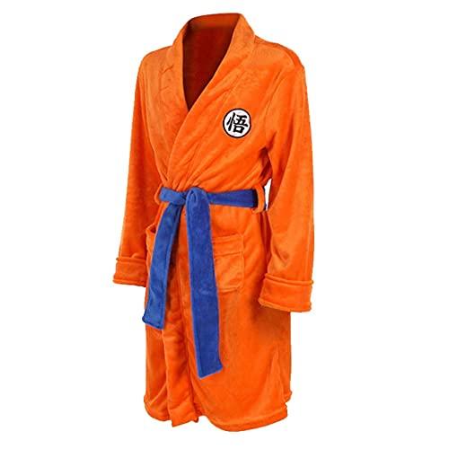 MUYIOU Anime Dragon Ball Cosplay Robes Chemise de Nuit Gokû Peignoir Flanelle (Orange,150)