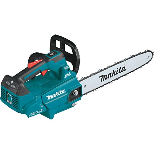 Makita XCU09Z Lithium-Ion Brushless Cordless 18V X2 (36V) LXT 16' Top Handle Chain Saw, Tool Only, Teal