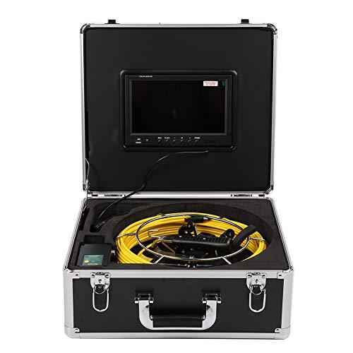 FILFEEL Endoscopio Industrial, 9 Pulgadas Video DVR 50M Cable 1080P Lente HD Dual 6LED CAM IP68 Cámara de detección de Drenaje de tubería Impermeable 100-240V(YO)