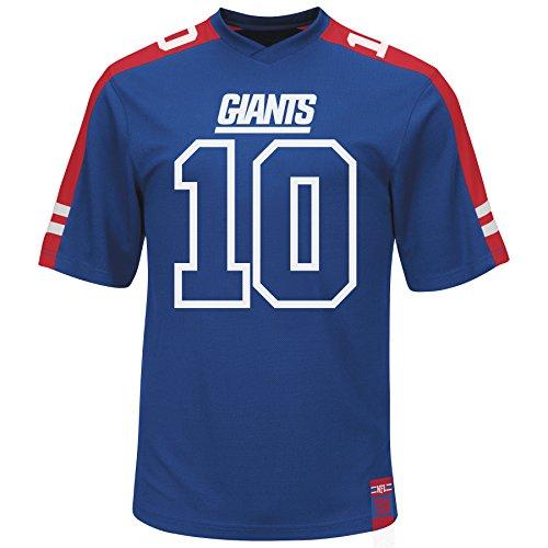 Eli Manning New York Giants Hashmark Blue Jersey T-shirt X-Large