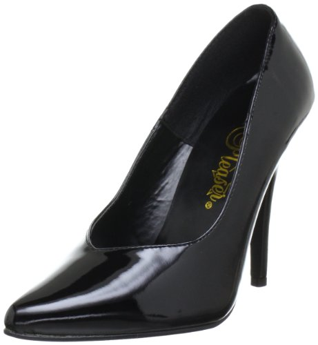 Pleaser SEDUCE-420V Damen Pumps, Schwarz (Blk pat), EU 38 (UK 5) (US 8)