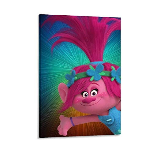 Pop Culture Merchandise Decoración de pared Trolls World Tour Hola Pinturas Fotos Obras de Arte para Sala 30x45cm