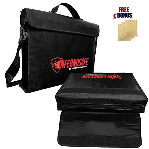 Fireproof Document Bag Waterproof w/Shoulder Strap...