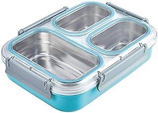 WZHZJ Grille en Acier Inoxydable Grande capacité isolé Boîte à Lunch Isolation Non-dérapant Anti-échaudage étudiant Adulte...