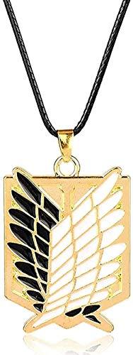Collar Collar Collar Mujer Collar Hombre Collar Attack On Titan Collar Legión Gigante Bandera Aleación Scout Regiment Logo Colgante Collar Hombres Mujeres S Joyas Colar Regalo Niñas Niños Collar