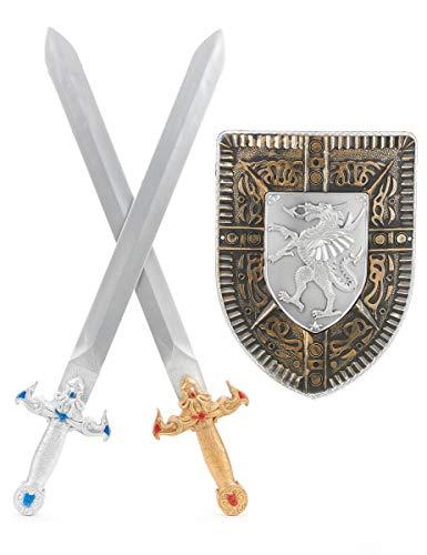 Generique - Ritter-Set mit 2 Schwertern and Schild für Kinder