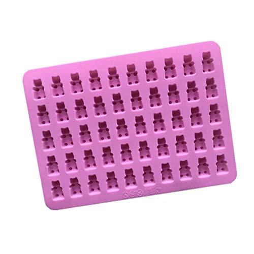 GMTEXTILES Kuchen Werkzeuge Form 1 Set 50 Cavity Silikon Gummibärchen Schokoladenform Candy Maker Eiswürfelschale Gelee Formen