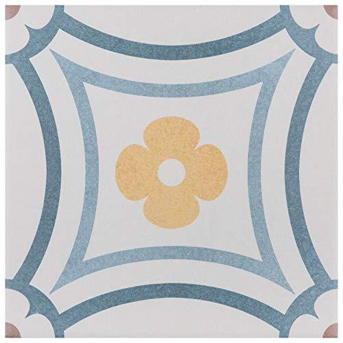 SomerTile FEQ8CAST FEQ8CPBT Anacapri Porcelain Floor and Wall Tile, 7.875