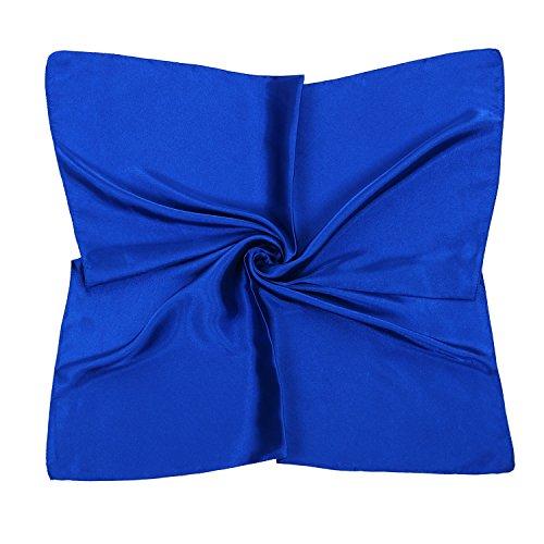 PB-SOAR PB-SOAR Einfarbiger Schal Bandana Halstuch Kopftuch Nickituch, 13 Farben auswählbar (Knallblau)