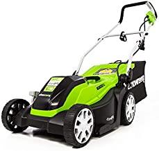 Greenworks 9 Amp 14-Inch Corded Electric Lawn Mower, MO09B01