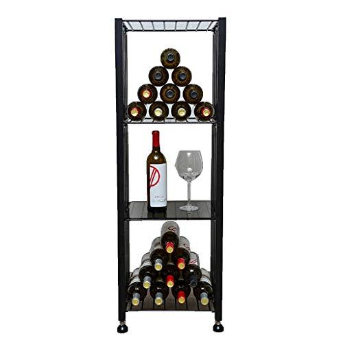Armarios para vino Botelleros Enfriador de vino Gabinete de partición Expositor De pie Estante de almacenamiento Multifuncional Titular de vidrio de vino Hogar Barra de bar Sala de estar Bodega