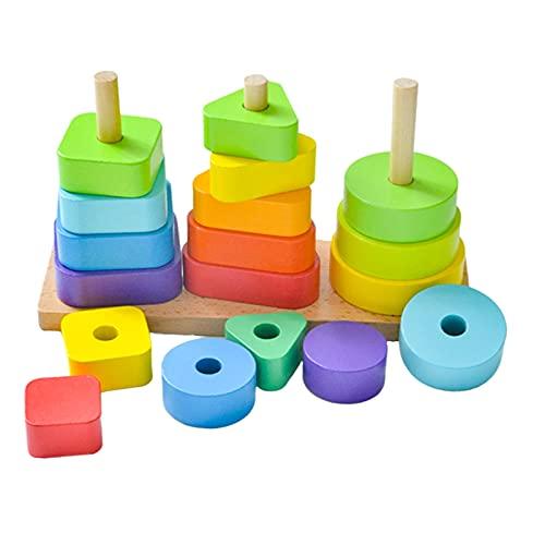Milageto Accatastamento Dei Blocchi di Costruzione Del Giocattolo Giocattoli Educativi per Bambini per Bambini