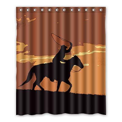 Dalliy Brauch west cowboy Wasserdicht Polyester Shower Curtain Duschvorhang 152cm x 183cm