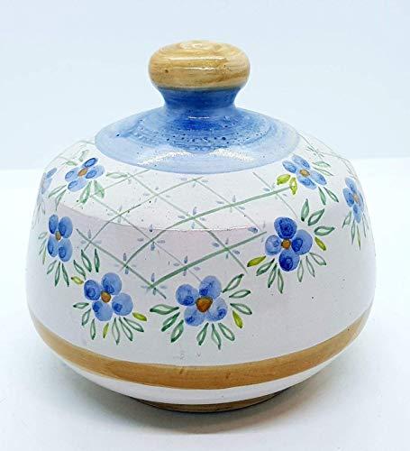 Nascondispugna Linea Classica Fiori Azzurri per Cucina e Bagno Handmade Le Ceramiche del Castello 100% Made in Italy