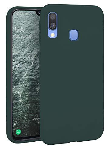 MyGadget Silikon Hülle für Samsung Galaxy A40 - robuste Schutzhülle TPU Case Slim Silikonhülle - Back Cover Ultra Kratzfest Handyhülle - Matt Olivgrün
