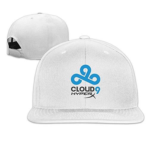 Man&Woman Cool CSGO Cloud 9 Hep C9 Flat Bill Hat Ash White