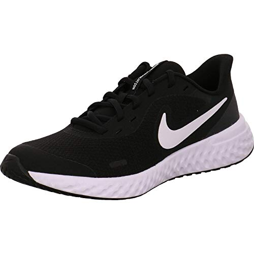 Nike Unisex-Kinder Revolution 5 (GS) Sneaker, Schwarz (black/white-anthracite 003), 38 EU